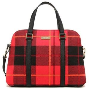 Kate Spade ♠️ NWT Red Plaid Satchel Bag